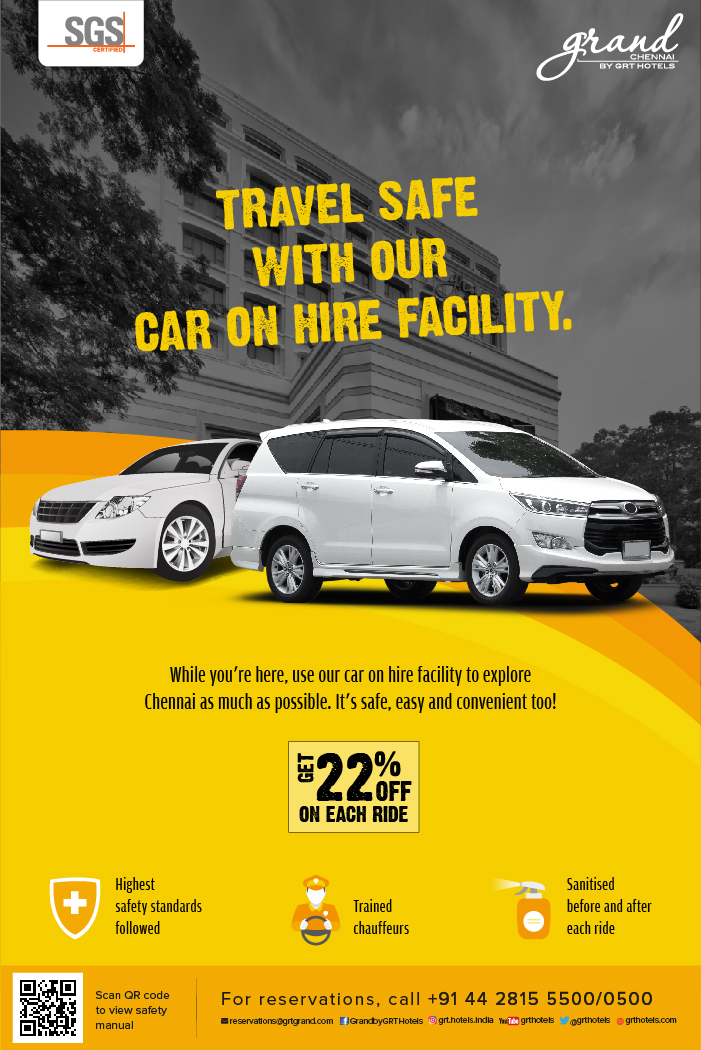 Experience the day out that you deserve at Grand Chennai by GRT Hotels where your safety is our priority