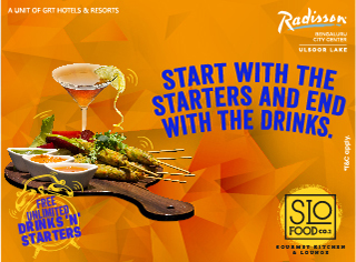 Start with the Starters and End With the Drinks
