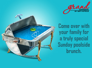 Come Over with your Family for a Truly Special Sunday Poolside Brunch.